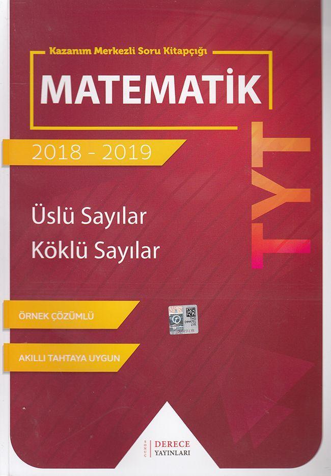 Sonuç Derece Yayınları TYT Matematik Üslü Sayılar Köklü Sayılar