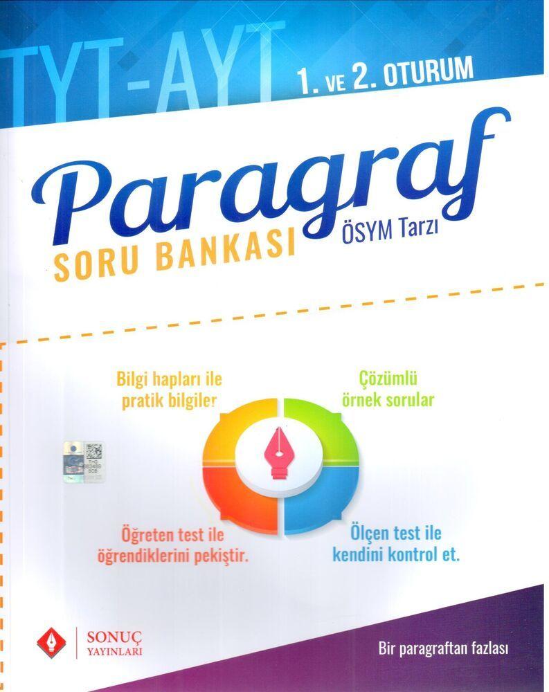 Sonuç Yayınları YKS 1. ve 2. Oturum Vitaminlerle Paragraf