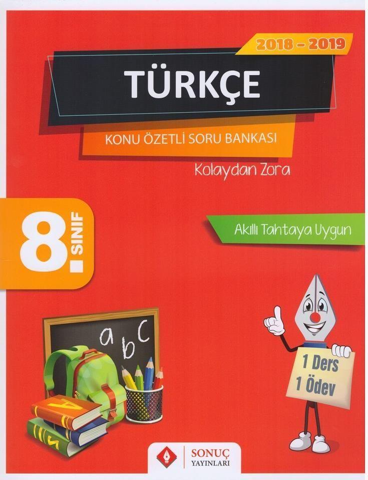 Sonuç Yayınları 8. Sınıf Türkçe Konu Özetli Soru Bankası Seti