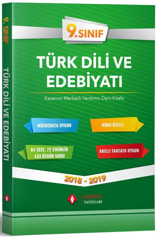 Sonuç Yayınları 9. Sınıf Türk Dili ve Edebiyatı Kazanım Merkezli Yardımcı Ders Kitabı