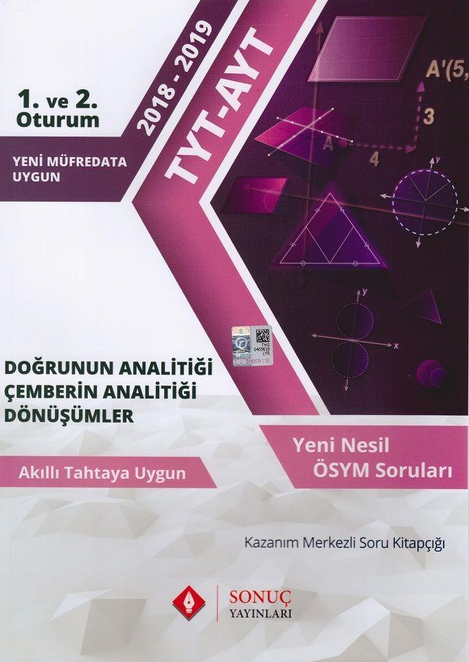 Sonuç Yayınları TYT AYT Doğrunun Analitiği Çemberin Analitiği Dönüşümler
