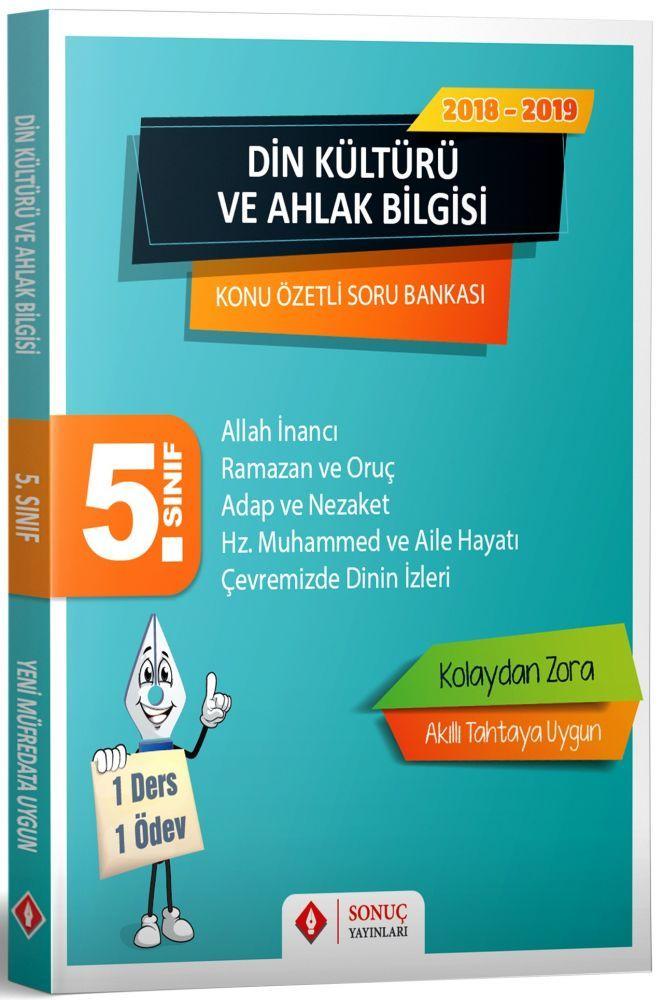 Sonuç Yayınları 5. Sınıf Din Kültürü ve Ahlak Bilgisi Konu Özetli Soru Bankası