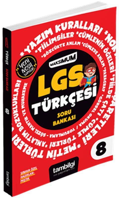 Tambilgi Yayınları 8. Sınıf LGS Türkçesi Maksimum Soru Bankası