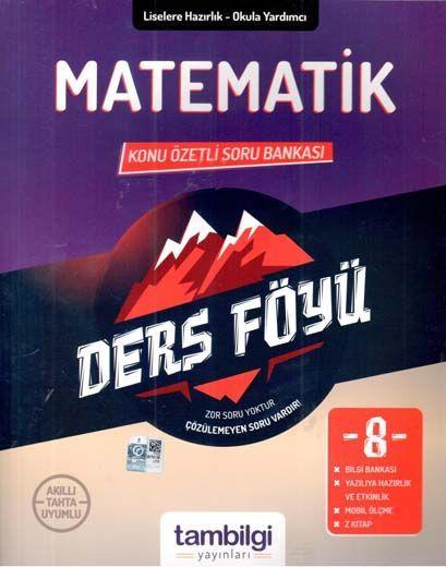 Tambilgi Yayınları 8. Sınıf Matematik Konu Özetli Soru Bankası