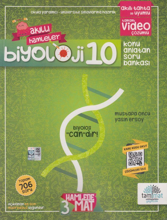Tammat Yayıncılık 10. Sınıf Biyoloji Akıllı Hamleler Konu Anlatan Soru Bankası