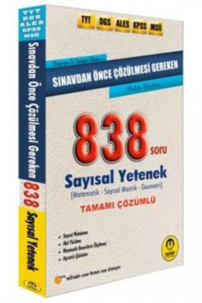 Tasarı Yayınları DGS ALES TYT KPSS Öncesi Çözülmesi Gereken Sayısal Yetenek 838 Soru