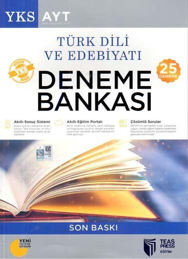 Teas Press Yayınları AYT Türk Dili ve Edebiyatı 25 Deneme Soru Bankası