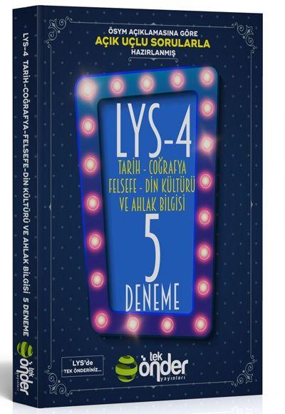 Tek Önder Yayınları LYS 4 Beşli Deneme Sınavı Açık Uçlu Kısa Cevaplı Sorularla