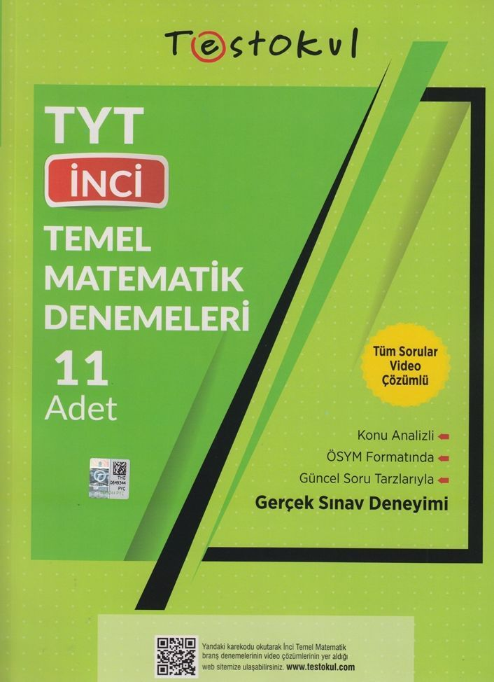 Test Okul Yayınları TYT Temel Matematik İnci 11 li Denemeleri