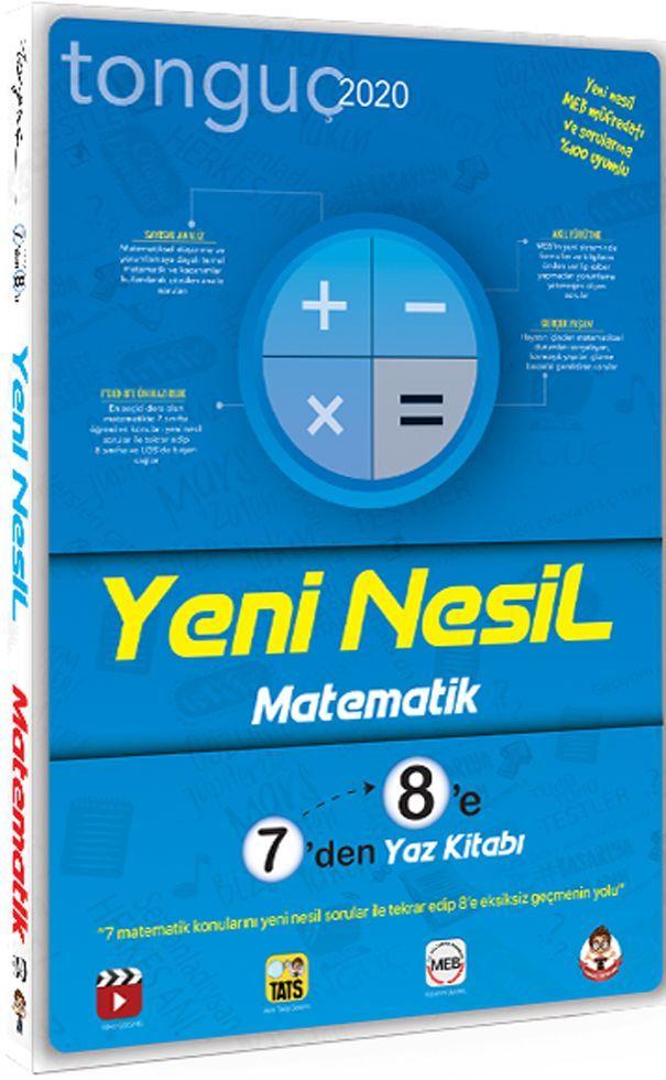 Tonguç Akademi 7 den 8 e Yeni Nesil Matematik Yaz Kitabı