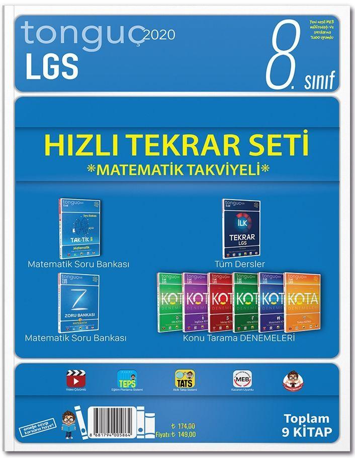 Tonguç Akademi 8. Sınıf LGS Hızlı Tekrar Seti Matematik Takviyeli
