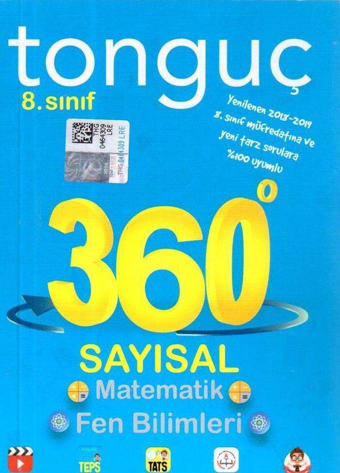 Tonguç Akademi 8. Sınıf 360 Serisi Sayısal Soru Bankası