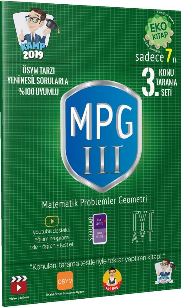 Tonguç Yayınları TYT Matematik Problemler Geometri 3 Konu Tarama