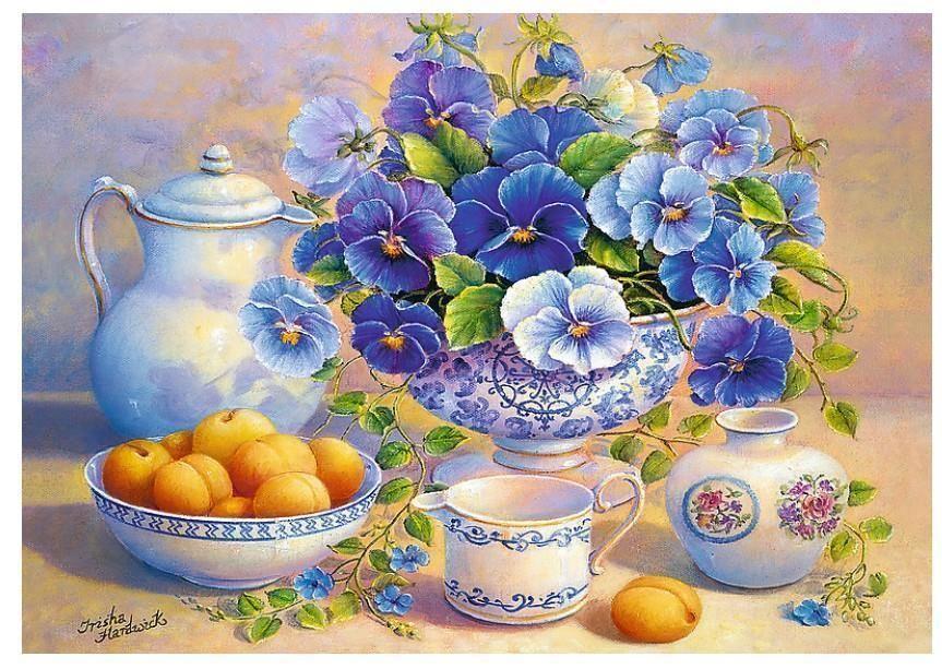 Trefl Puzzle  Blue Bouquet, DDFA 1000 Parça