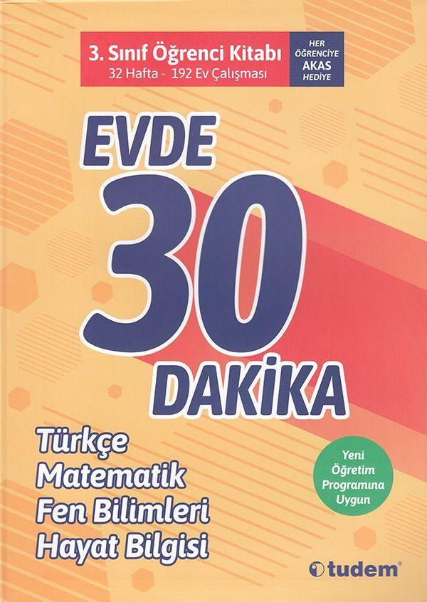 Tudem 3. Sınıf Evde 30 Dakika Türkçe Matematik Fen Bilimleri Hayat Bilgisi Soru Ev Çalışması