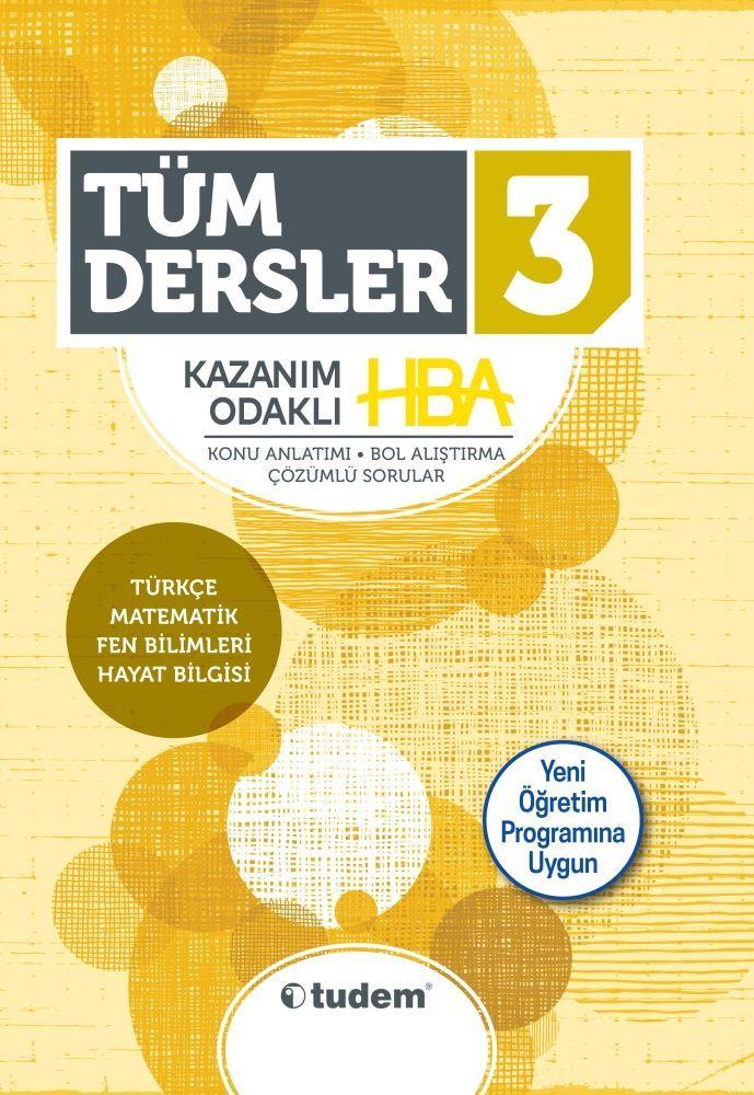 Tudem Yayınları 3. Sınıf Tüm Dersler Kazanım Odaklı HBA