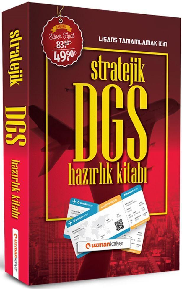 Uzman Kariyer DGS Stratejik Hazırlık Kitabı