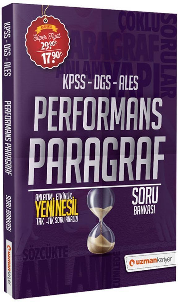 Uzman Kariyer KPSS DGS ALES Performans Paragraf Soru Bankası