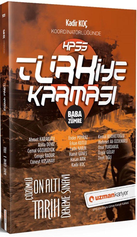Uzman Kariyer KPSS Tarih Türkiye Karması Baba Zümre 16  Deneme