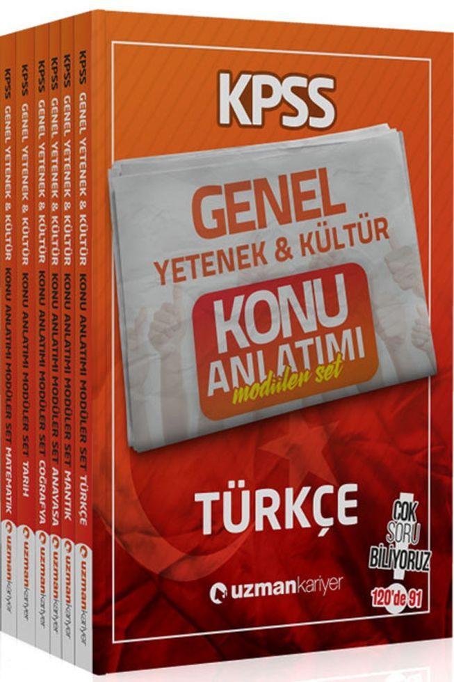 Uzman Kariyer Yayınları 2020 KPSS Genel Yetenek Genel Kültür Konu Anlatımlı Modüler Set