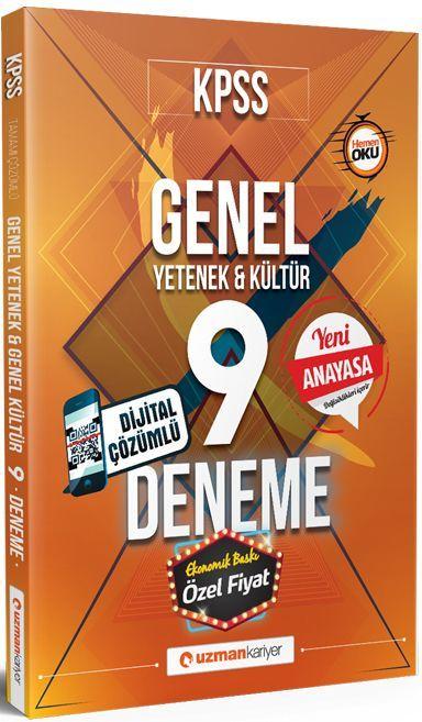 Uzman Kariyer Yayınları KPSS Genel Yetenek Genel Kültür Dijital Çözümlü 9 Deneme Anayasa Değişiklikleri Hediyeli