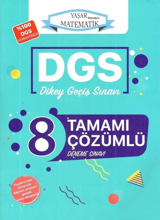 Yaşar Hoca DGS Tamamı Çözümlü 8 Deneme Sınavı