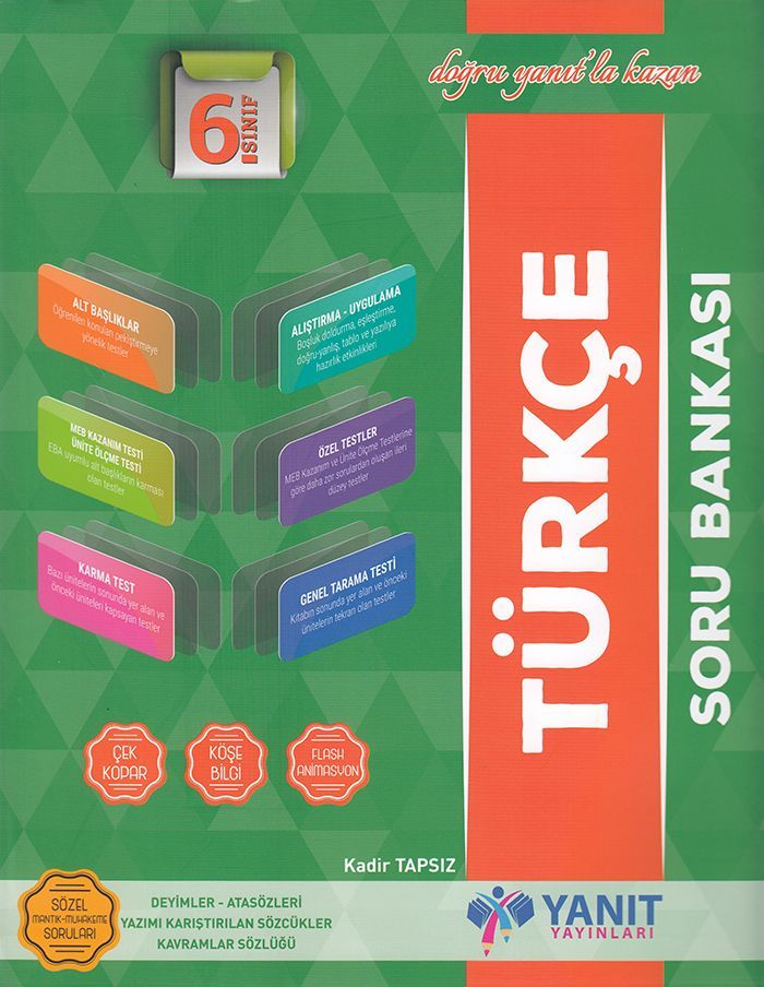Yanıt Yayınları 6. Sınıf Türkçe Soru Bankası