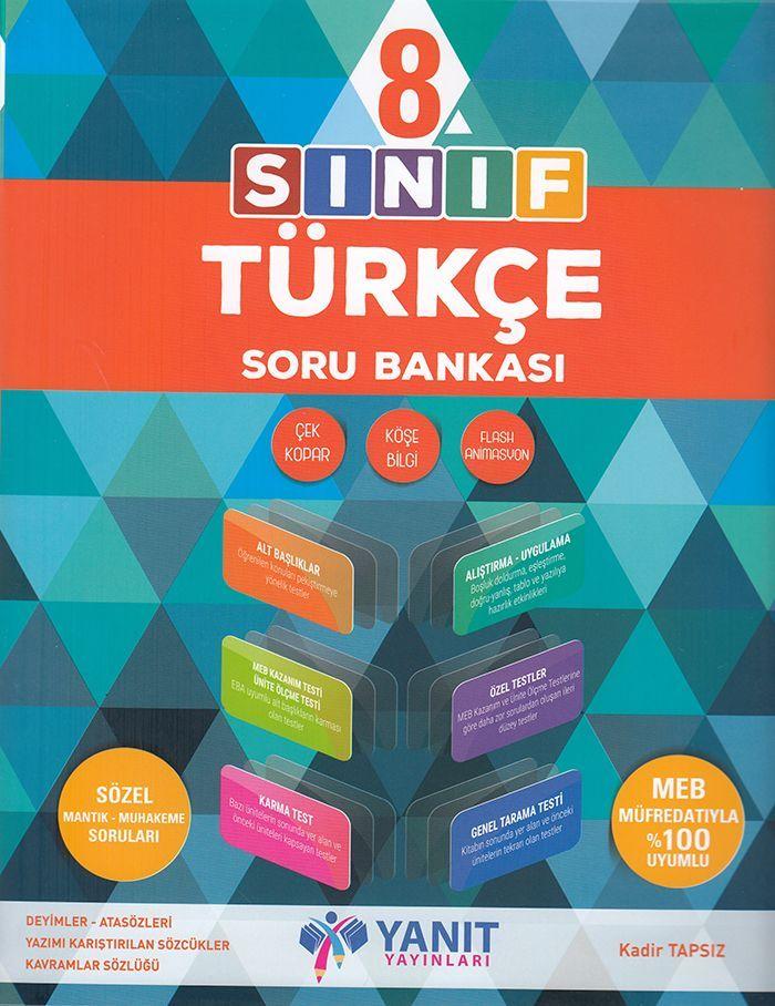 Yanıt Yayınları 8. Sınıf Türkçe Soru Bankası