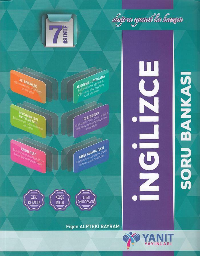Yanıt Yayınları 7. Sınıf İngilizce Soru Bankası