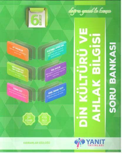 Yanıt Yayınları 6. Sınıf Din Kültürü ve Ahlak Bilgisi Soru Bankası