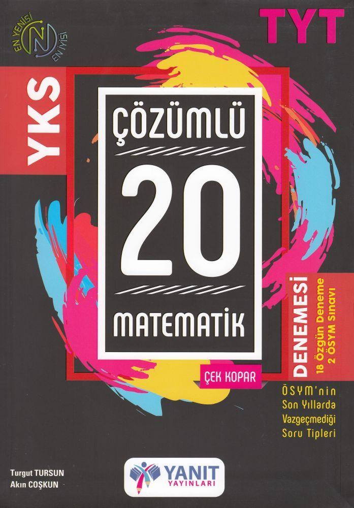 Yanıt Yayınları TYT Matematik 20 Çözümlü Denemesi