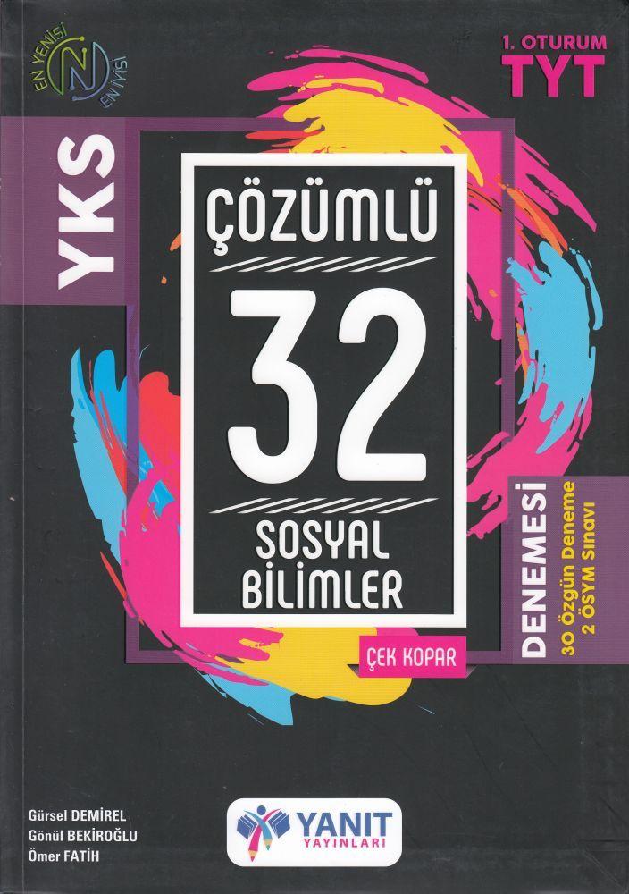 Yanıt Yayınları TYT Sosyal Bilimler 32 Çözümlü Denemesi