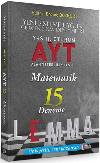 Yargı Lemma YKS 2. Oturum AYT Matematik 15 Deneme