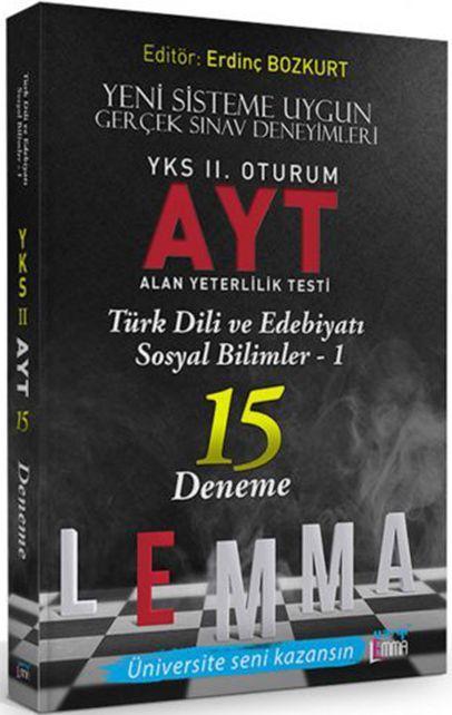 Yargı Lemma YKS 2. Oturum AYT Türk Dili ve Edebiyatı  Sosyal Bilimler 1  15 Deneme