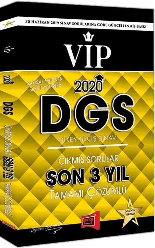 Yargı Yayınları 2020 DGS VIP Sayısal Sözel Yetenek Son 3 Yıl Tamamı Çözümlü Çıkmış Sorular