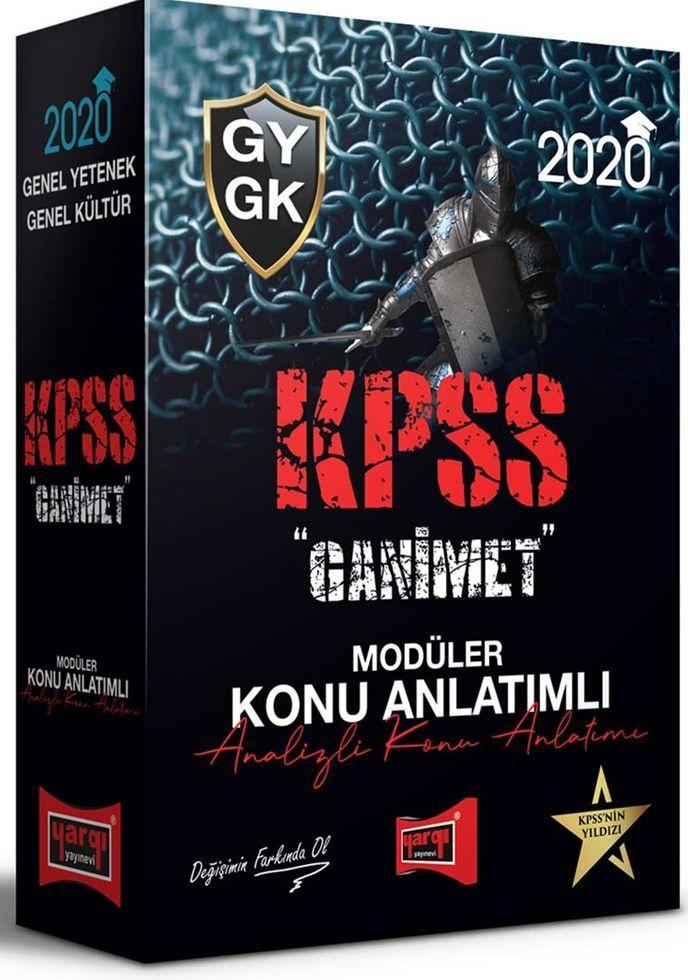 Yargı Yayınları 2020 KPSS Genel Yetenek Genel Kültür GANİMET Konu Anlatımlı Modüler Set