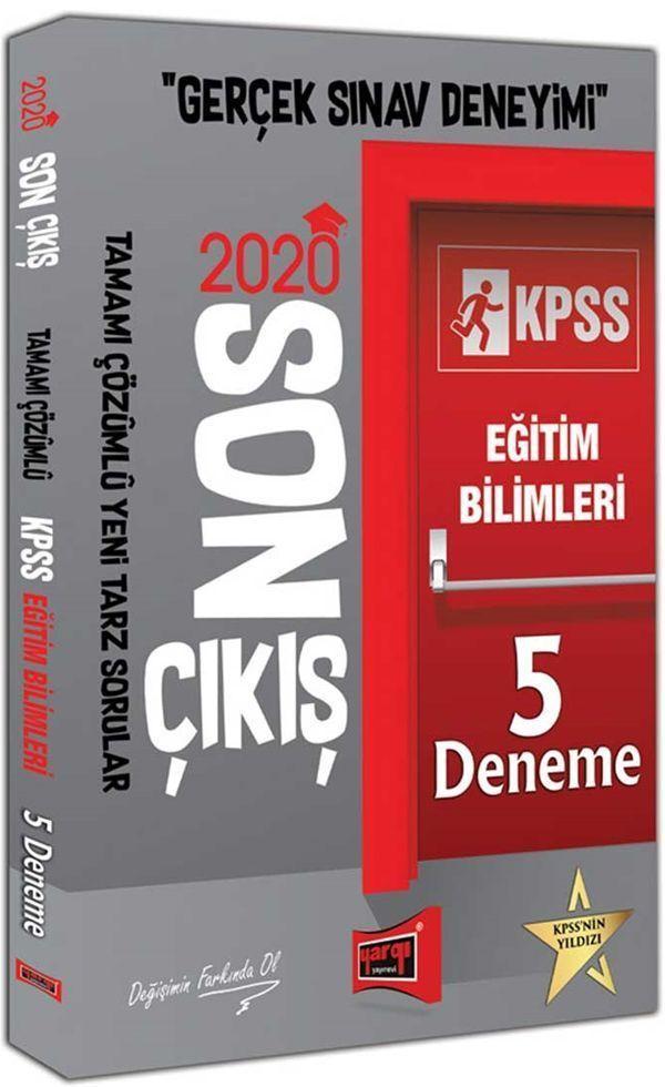 Yargı Yayınları 2020 KPSS Eğitim Bilimleri Son Çıkış Tamamı Çözümlü 5 Deneme