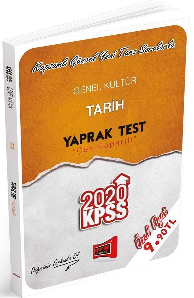 Yargı Yayınları 2020 KPSS Genel Kültür Tarih Çek Kopartlı Yaprak Test