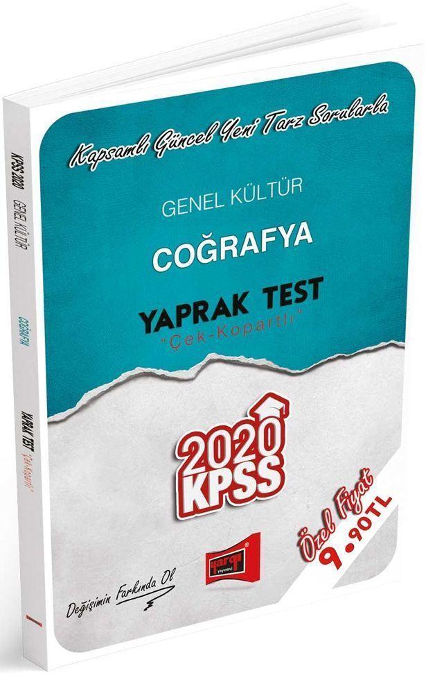 Yargı Yayınları 2020 KPSS Genel Kültür Coğrafya Çek Kopartlı Yaprak Test