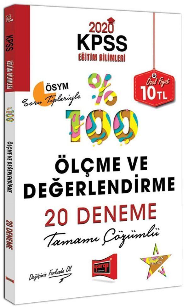 Yargı Yayınları 2020 KPSS Eğitim Bilimleri Ölçme ve Değerlendirme Tamamı Çözümlü 20 Deneme