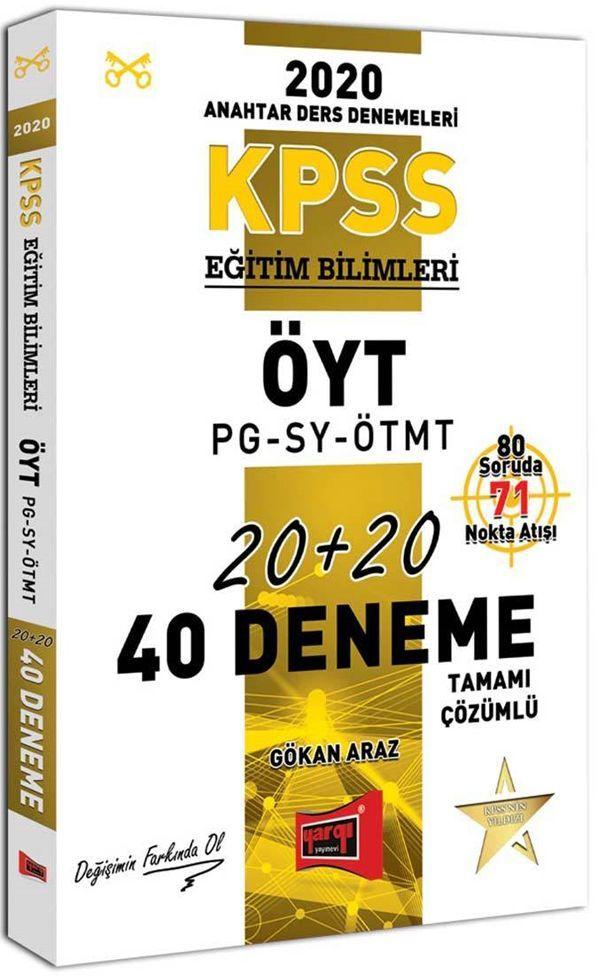 Yargı Yayınları 2020 KPSS Eğitim Bilimleri ÖYT PG SY ÖTMT Tamamı Çözümlü 40 Deneme