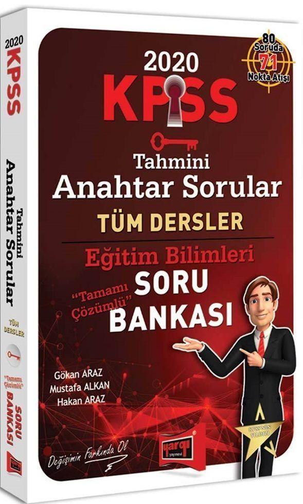 Yargı Yayınları 2020 KPSS Eğitim Bilimleri Tahmini Anahtar Sorular Tamamı Çözümlü Soru Bankası