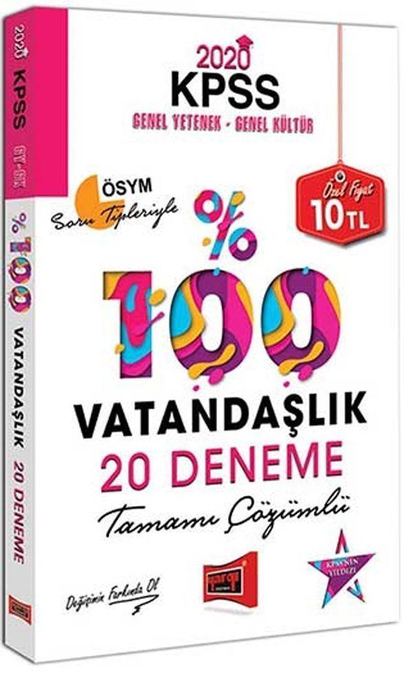 Yargı Yayınları 2020 KPSS Vatandaşlık Tamamı Çözümlü 20 Deneme