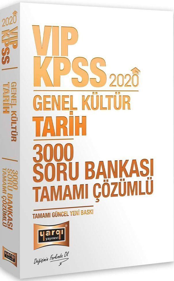 Yargı Yayınları 2020 KPSS VIP Tarih Tamamı Çözümlü 3000 Soru Bankası