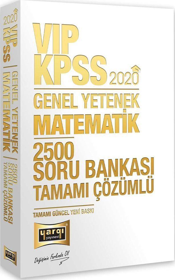 Yargı Yayınları 2020 KPSS VIP Matematik Tamamı Çözümlü 2500 Soru Bankası