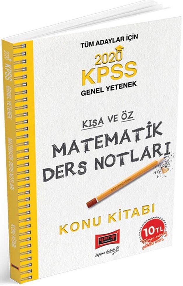 Yargı Yayınları 2020 KPSS Matematik Kısa ve Öz Ders Notları