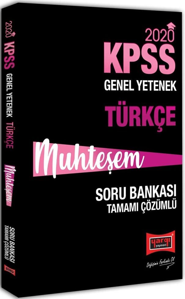 Yargı Yayınları 2020 KPSS Muhteşem Türkçe Tamamı Çözümlü Soru Bankası