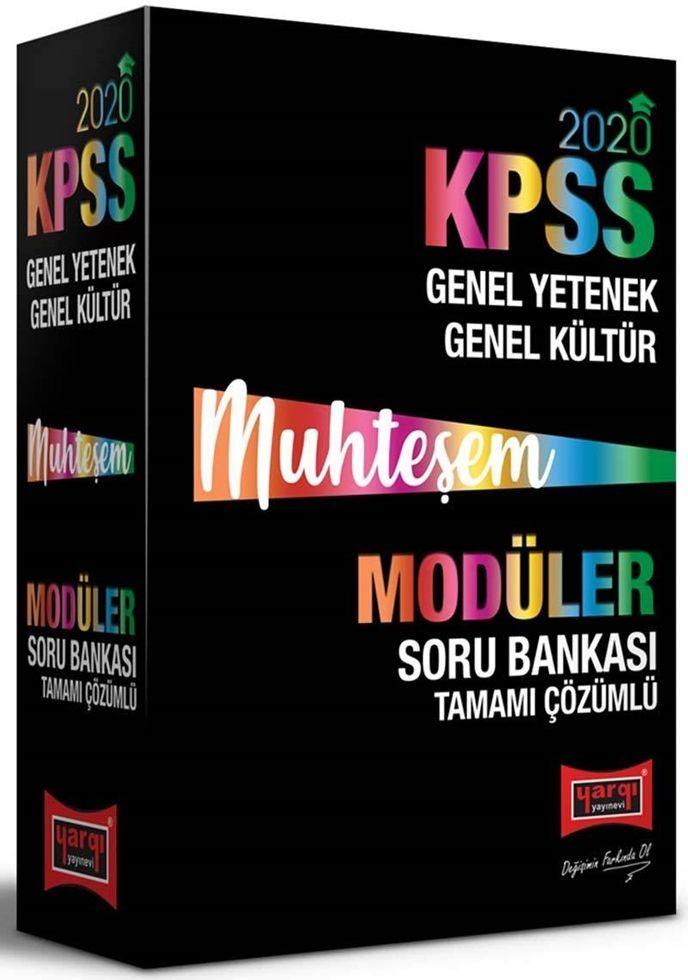 Yargı Yayınları 2020 KPSS Muhteşem GY GK Tamamı Çözümlü Modüler Soru Bankası Seti