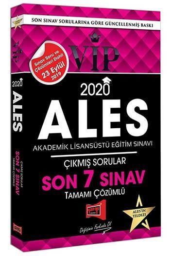 Yargı Yayınları 2020 ALES VIP Tamamı Çözümlü Son 7 Sınav Çıkmış Sorular