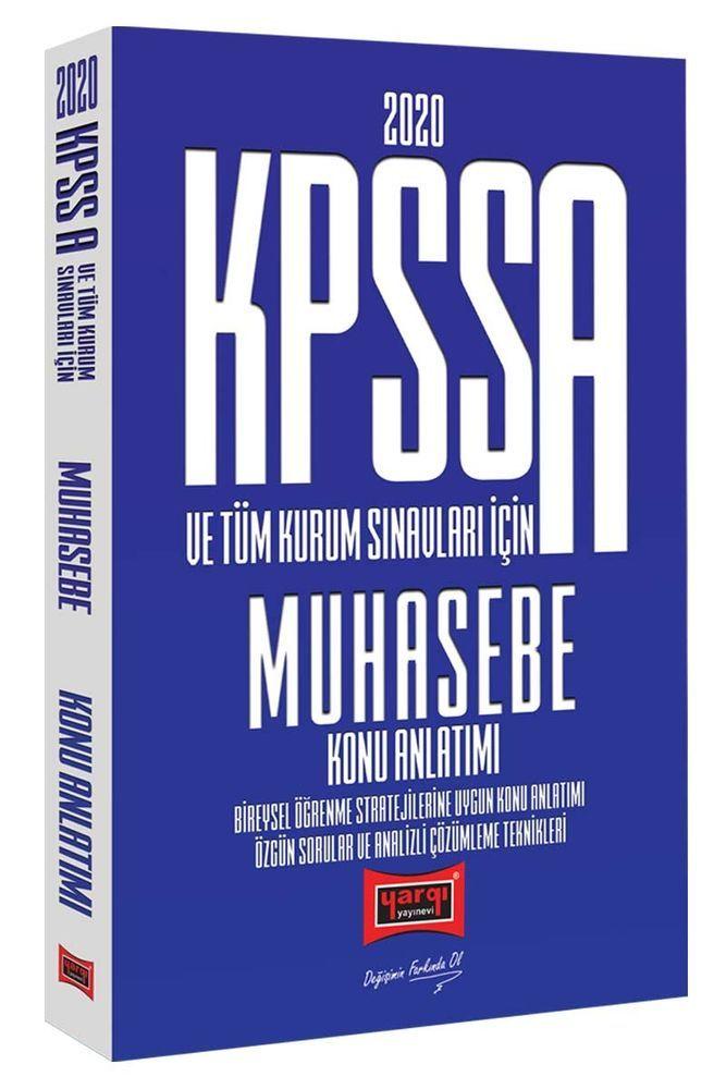 Yargı Yayınları 2020 KPSS A Grubu ve Tüm Kurum Sınavları İçin Muhasebe Konu Anlatımı